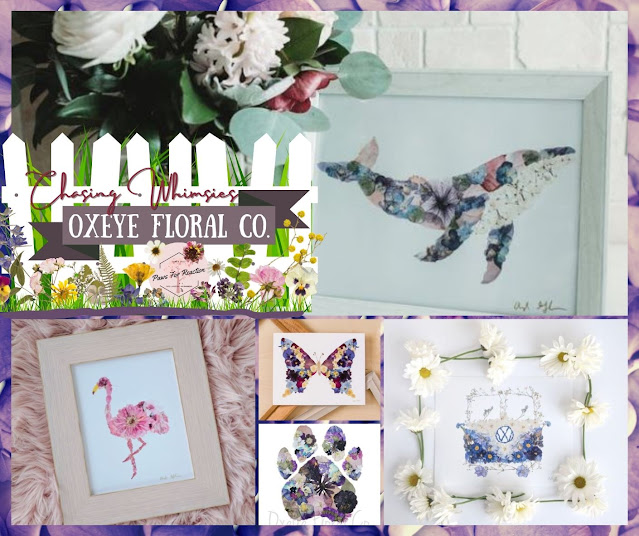 Chasing Whimsies: Dried flower art by Oxeye Floral Co.