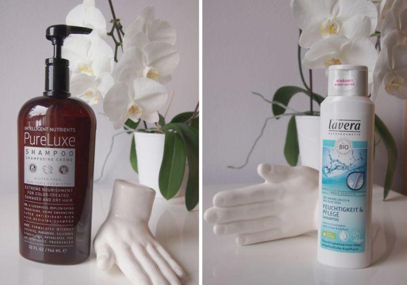 Shampoo-Haarglanz ohne Silikone