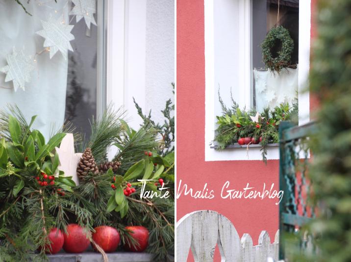 Weihnachtliche Dekoration für Fenster