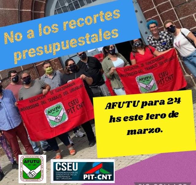 El sindicato de UTU, AFUTU, anunció que el 1 de marzo no van a empezar las clases y adelantó que ese día habrá un paro