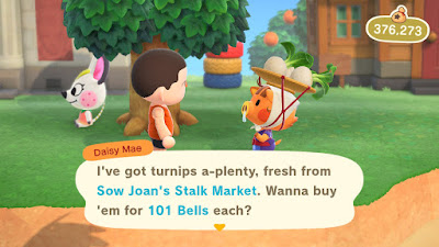 Buying Animal Crossing Turnips