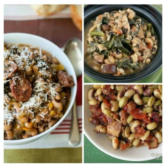 Slow Cooker Recipes with Black-Eyed Peas For Luck in the New Year found on SlowCookerFromScratch.com