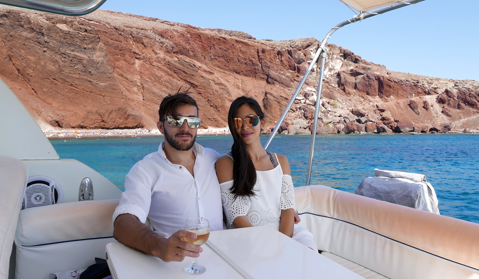 Euriental | luxury travel & style | Santorini Greece, private boat rental