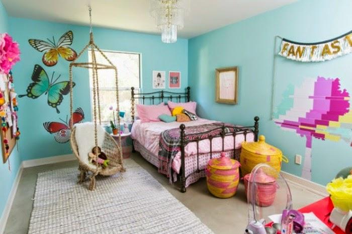 dormitorio colorido niña