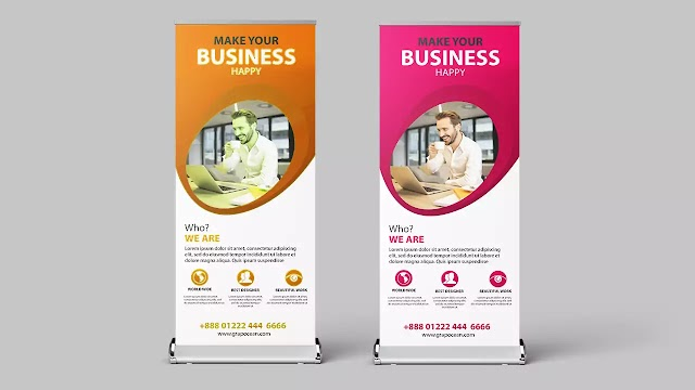 How To Make Professional Roll Up Banner - Photoshop Tutorial