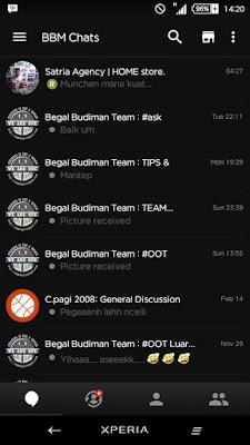 BBM MOD Black Elegant 2.12.0.9 Efek Animasi