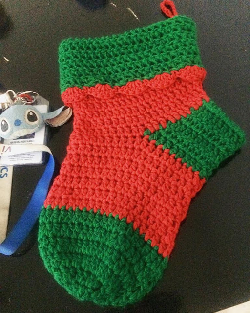 Crochet Christmas Sock