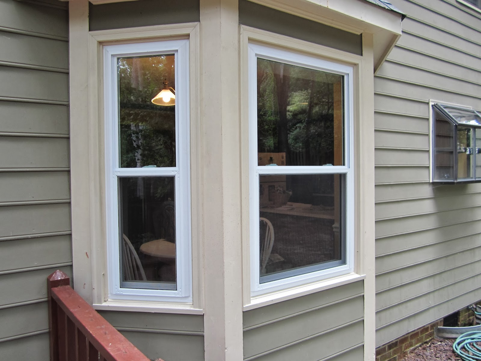 The amberican dream from bland to bold exterior paint - Vinyl trim around exterior windows ...
