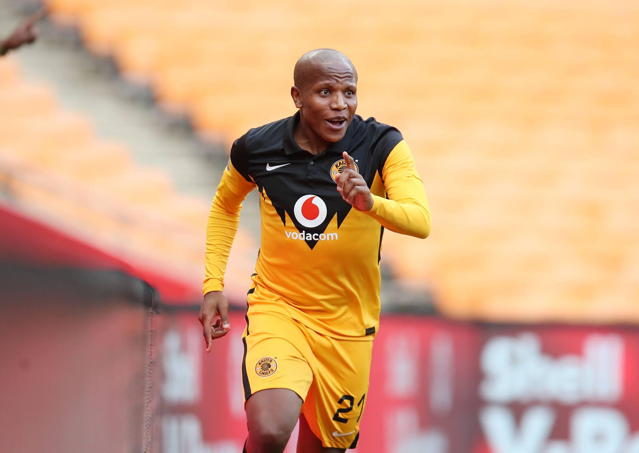Kaizer Chiefs midfielder Lebogang Manyama