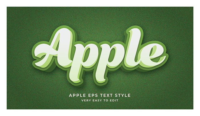 Apple 3D Text Effect Generator And Text Style Effect