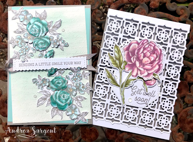 Gray Granite Fancy Phrases & Prized Peony Stampin Up cards, Andrea Sargent, Independent Stampin' Up! Demonstrator, Valley Inspirations, Adelaide Foothills, South Australia, Australia