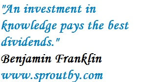 #BenjaminFranklin, An investment in knowledge pays the best dividends