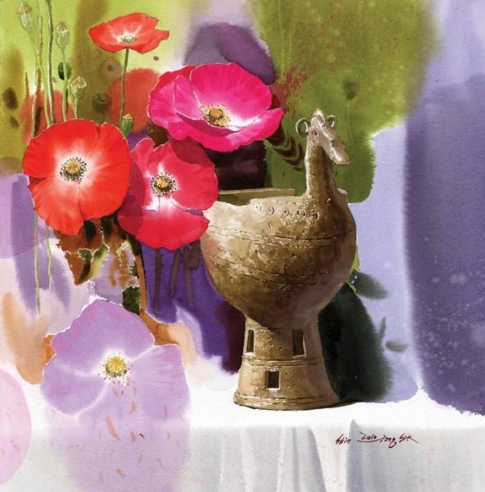Акварельные картины. Shin Jong Sik 19