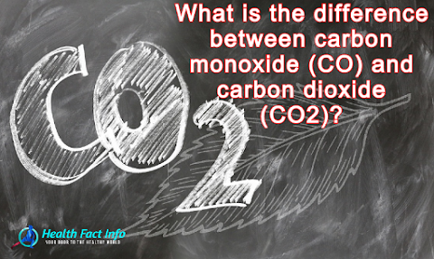 What is the difference between carbon monoxide (CO) and carbon dioxide (CO2)?