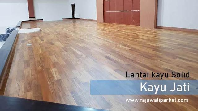 jenis lantai kayu Jati untuk kantor