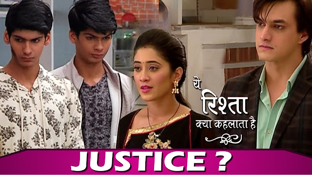 Big Twist :  Luv Kush call Kairav criminal questioning Kartik Naira's justice in YRKKH