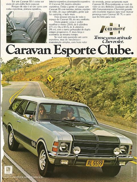 Propaganda da Chevrolet para promover a Caravan, no final dos anos 70