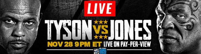 Mike Tyson vs Roy Jones LIVE STREAM streaming