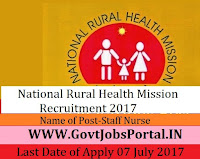 Odisha National Health Mission Recruitment 2017– Staff Nurse