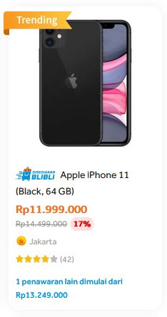 harga iphone 11 november 2020