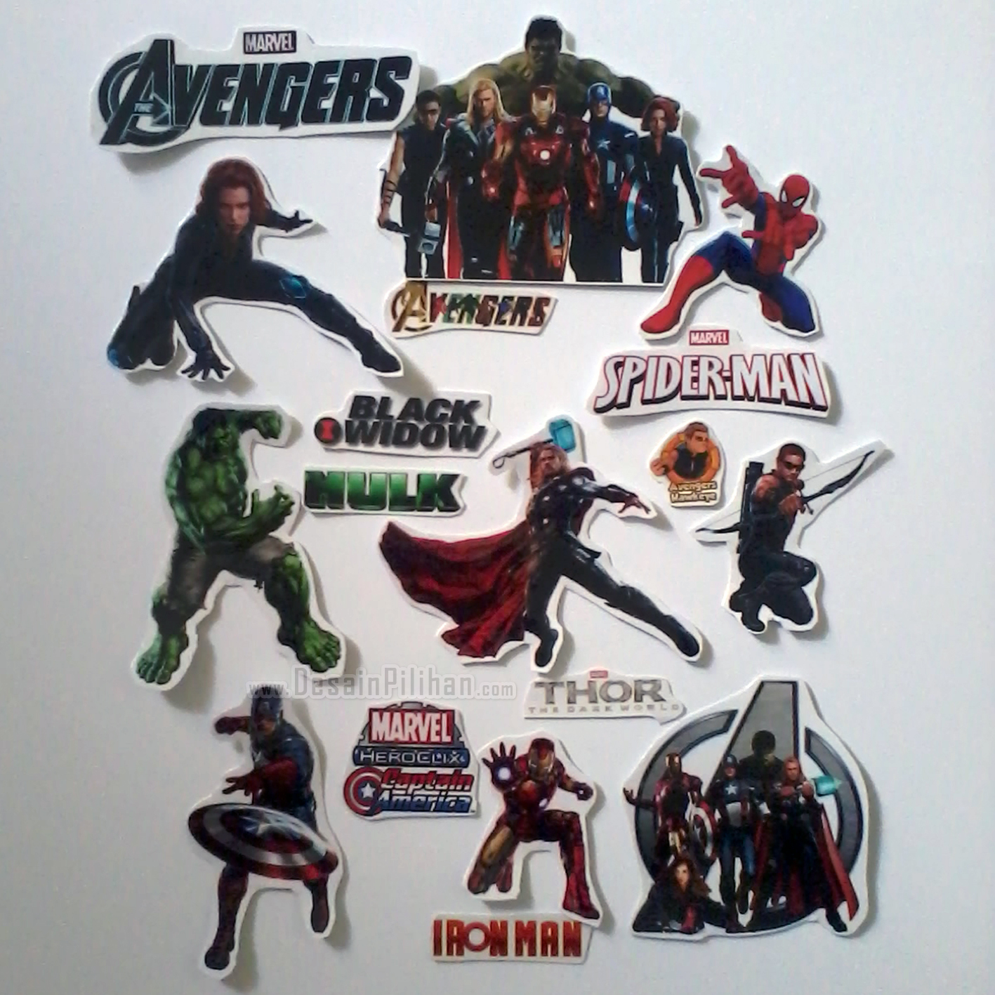 CUTTING STICKER TRANSPARAN CUSTOM, CUTTING STICKER THE AVENGERS, STICKER SPIDERMAN, STICKER BLACK WIDOW, STICKER HULK, STICKER THOR, STICKER IRON MAN, STICKER CAPTAIN AMERICA