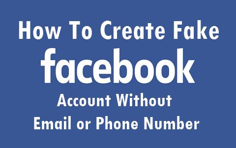 create facebook account without email or phone number