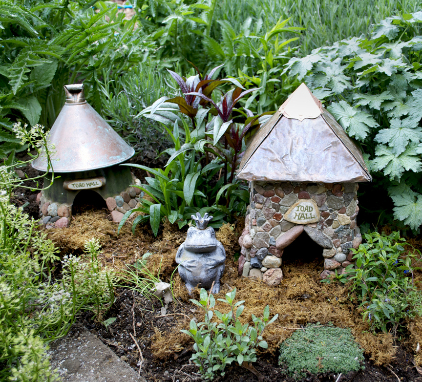 Here It Is Assembled And In The Garden. The Faux Metal Finish Was Added To  The Pot And Funnel And The Doorway Cut With A Sabre Saw. This House Took  About An ...