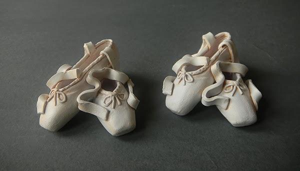 scarpe danza scultura soprammobili personalizzati artigianali ballerine orme magiche