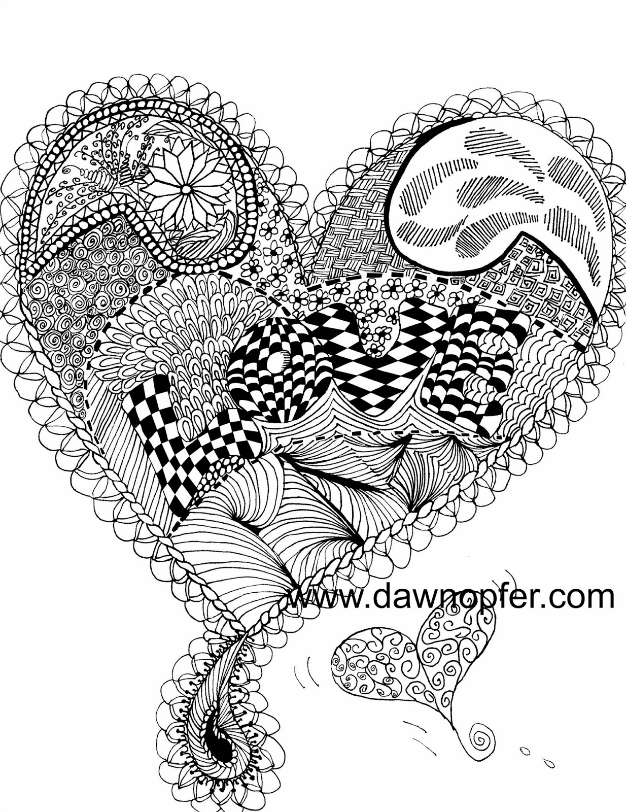There\'s a little ART in everyone\'s HEART!: Love Heart Coloring Book Page