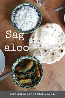 Indiase Sag Aloo: Vegan curry met aardappel en spinazie