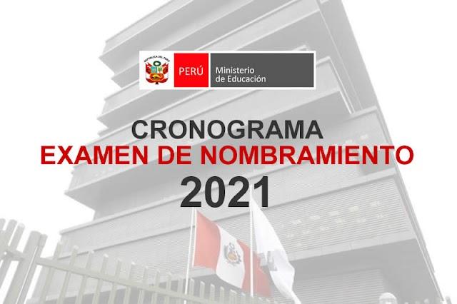 MINEDU: CRONOGRAMA PARA CONCURSO DE NOMBRAMIENTO DOCENTE 2021