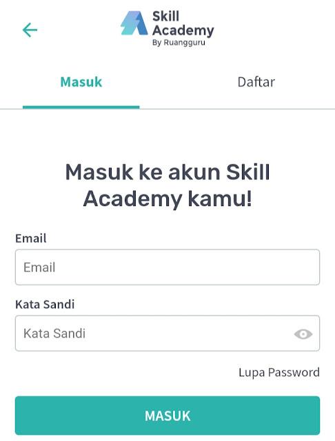 Mendaftar kursus skill Academy