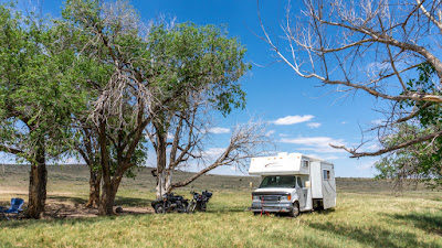 Boondocking again in the Hugo State Wildlife Area, CO