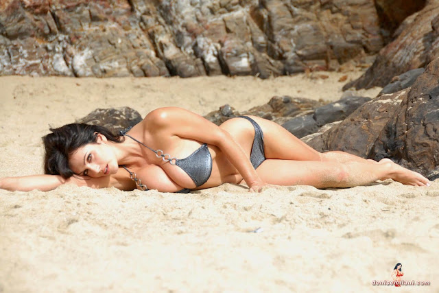 Denise-Milani-Beach-Silver-bikini-hottest-photoshoot-pics-5