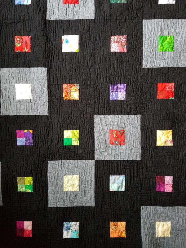 Scraps Squared Quilt | DevotedQuilter.blogspot.com