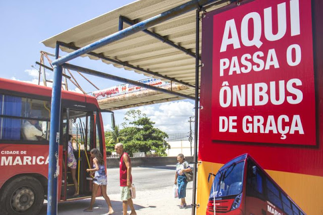Maricá é o único município brasileiro com mais de 100 mil habitantes que oferece ônibus com tarifa zero