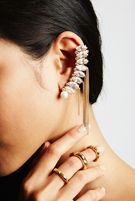Victoria Road Gold Chain Earcuff Giveaway Fair Trade