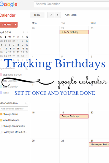 how to add birthdays on google calendar