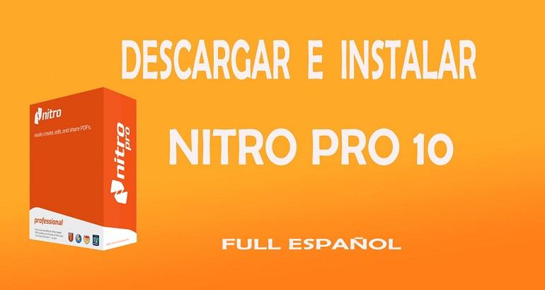 Descargar e instalar Nitro Pro 10 (x32 y x64 bits) - Andropixel
