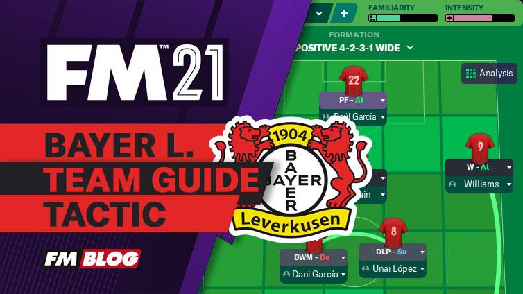 FM21 Bayer Leverkusen 4-2-3-1 Fluid Counter-Attack Tactic | Team Guide