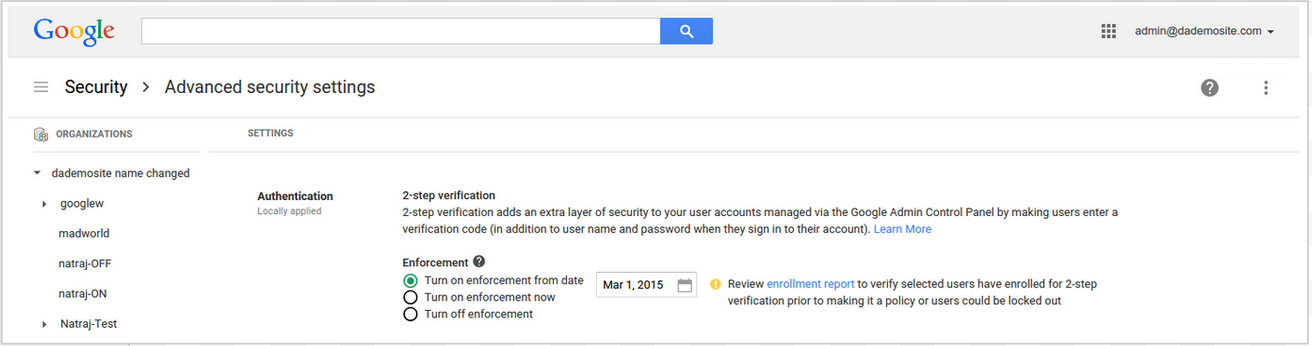 Google Apps 2-Step Verification