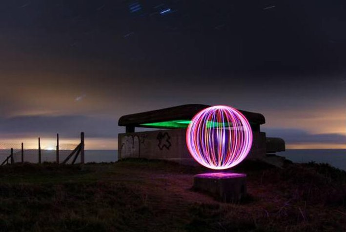 David Gilliver 1979 | Scottish Psychadelic Light painter