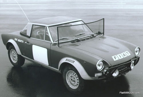 Fiat 124 Abarth Rally with gravel guard