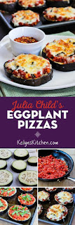 Julia Child's Eggplant Pizza found on KalynsKitchen.com