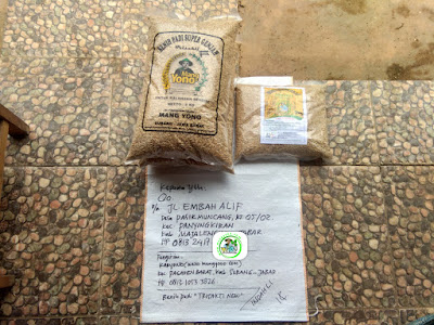 Benih padi yang dibeli   Oo Majalengka, Jabar.     (Sebelum di Packing).