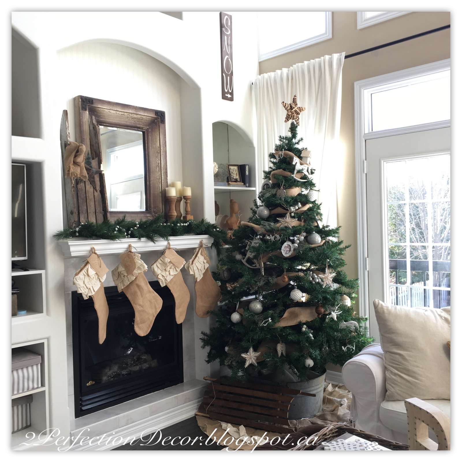 so christmas is blooming all over our home and on my instagram every season i wrack my brain to come up with a new decor scheme this year i went with - Vintage Rustic Christmas Decorations