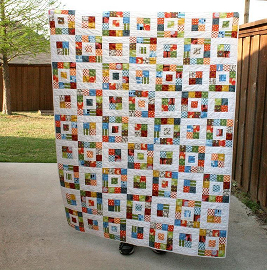 Royal Squares Quilt designed by Quilts by Emily for Bluprint