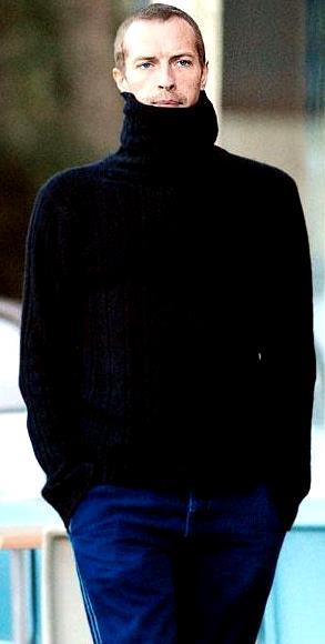 Foto de Chris Martin con chompa