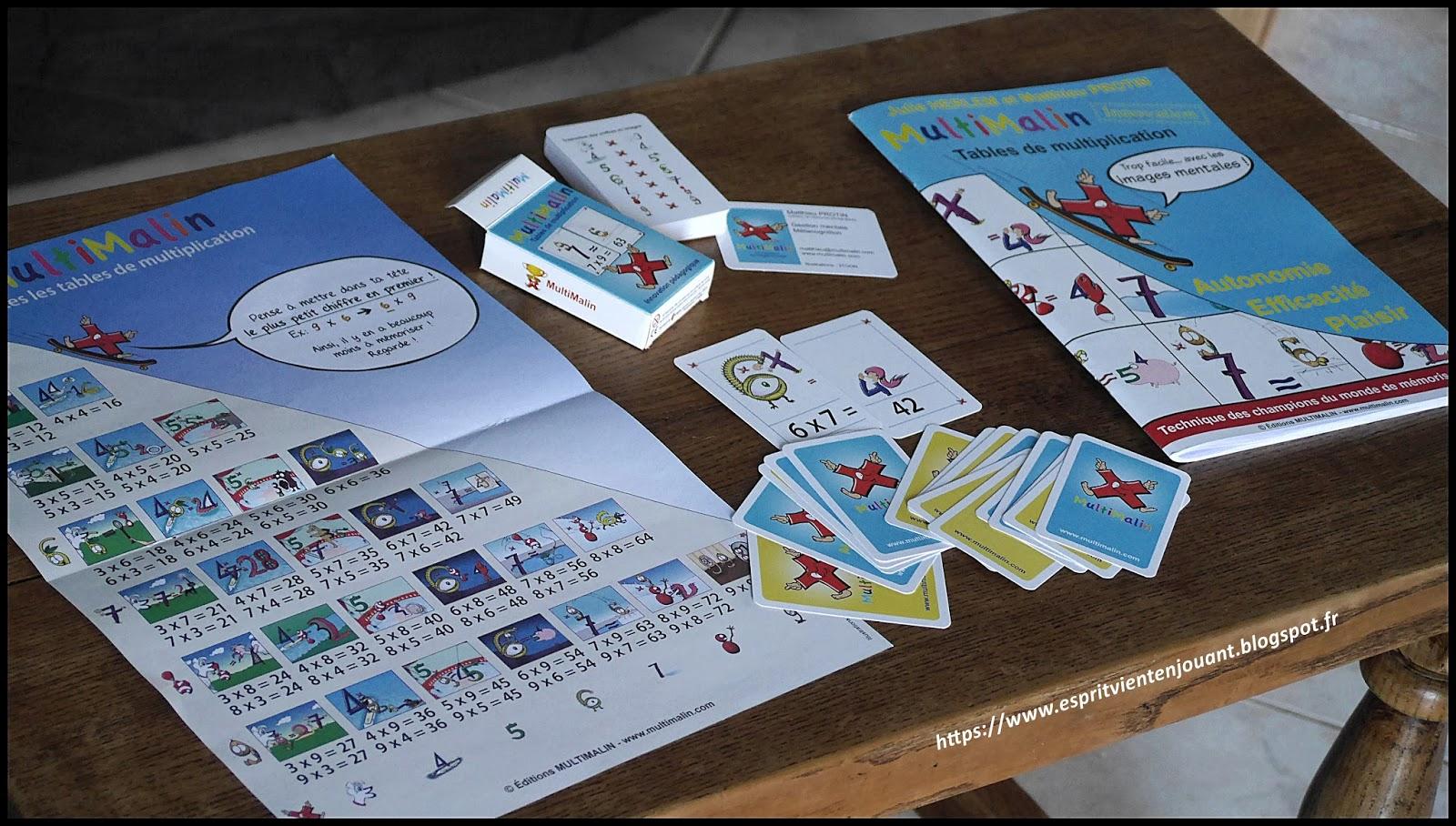 L 39 esprit vient en jouant activit enfants apprendre les - Apprendre tables de multiplication facilement ...