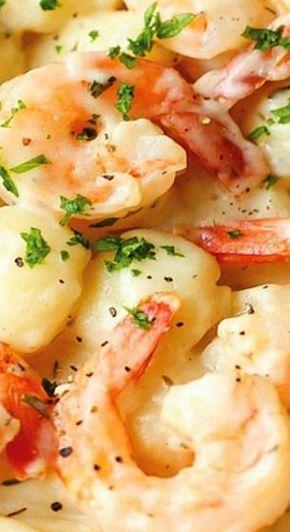 Shrimp and Gnocchi with Garlic Parmesan Cream Sauce
